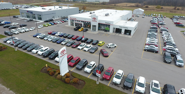 Strickland's Stratford Toyota Arial View